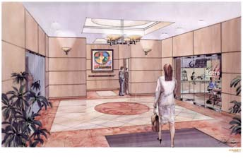 151 West Main Street interior rendering
